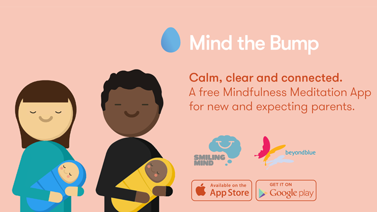 Mind the Bump. A free Mindfulness Meditation app for new and expecting parents