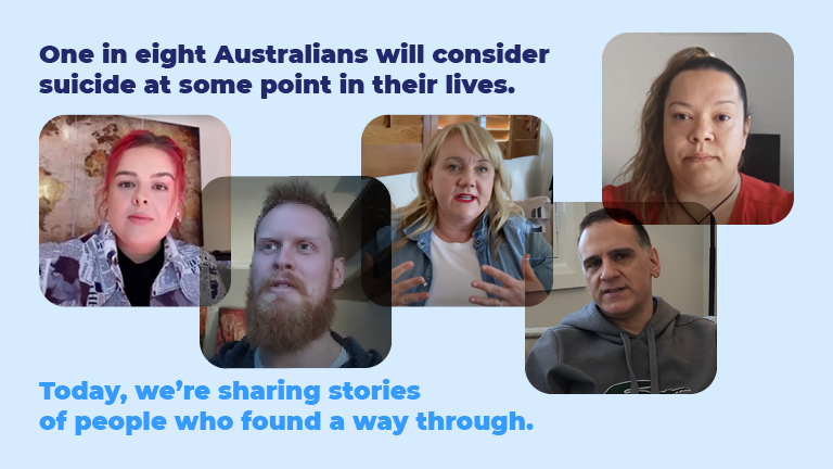 World Suicide Prevention day 2021 graphic of community members with experience of suicide