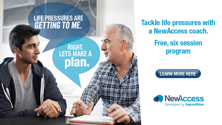 Tackle life pressures with a NewAccess coach. Free, six session program. Learn more.