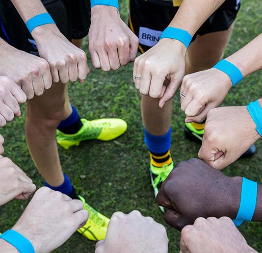 The mental health benefits of playing a team sport