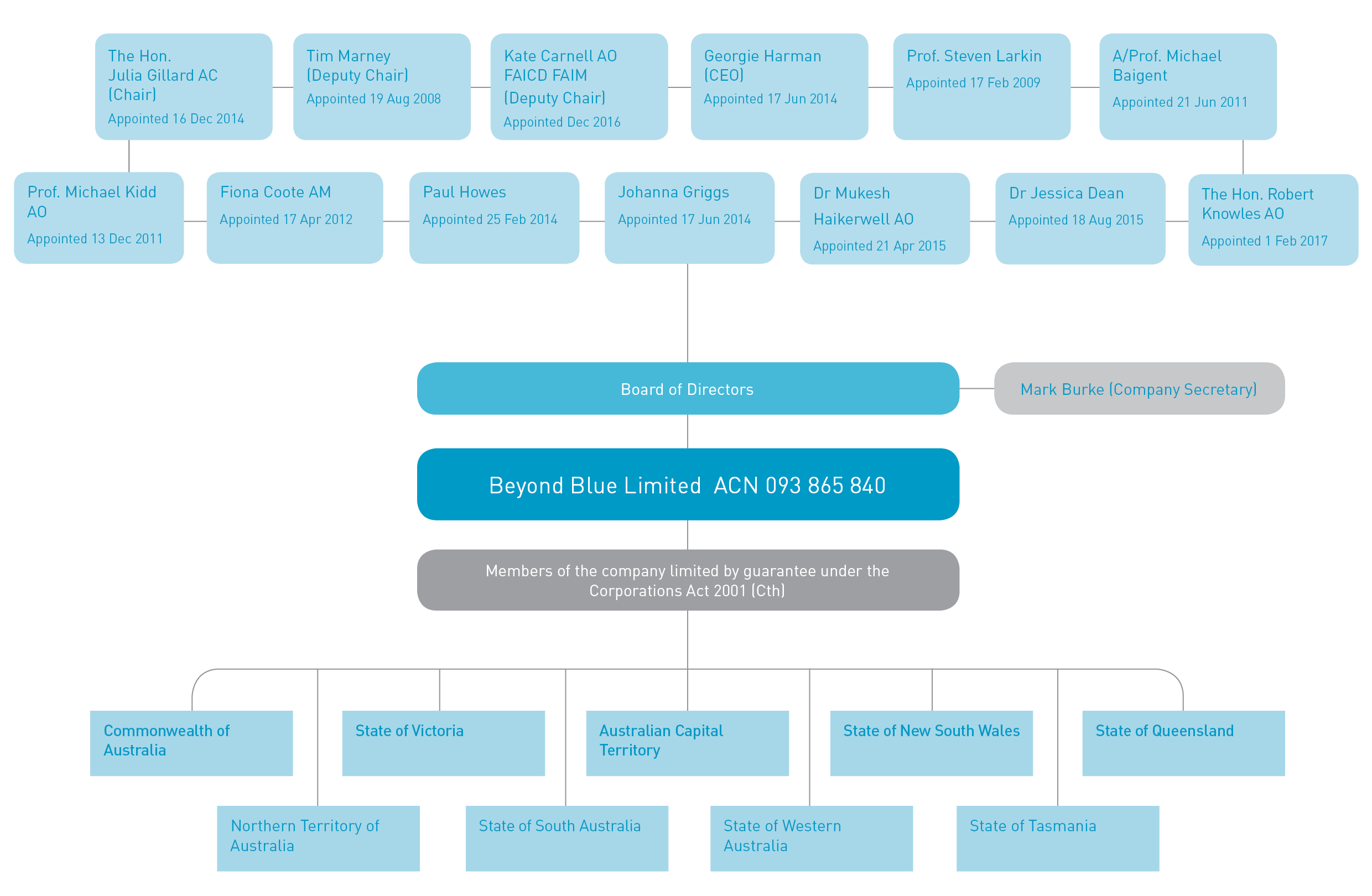 BEY1643 beyondblue Corporate Governance Structure for website