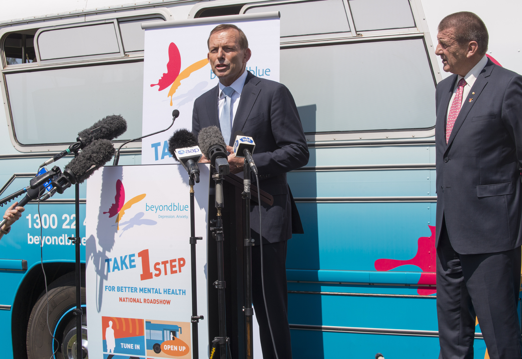 Prime Minister Tony Abbott officially launches the Roadshow.