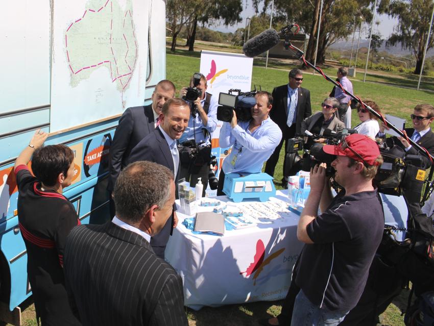 Prime Minister Tony Abbott checks out the Roadshow route.