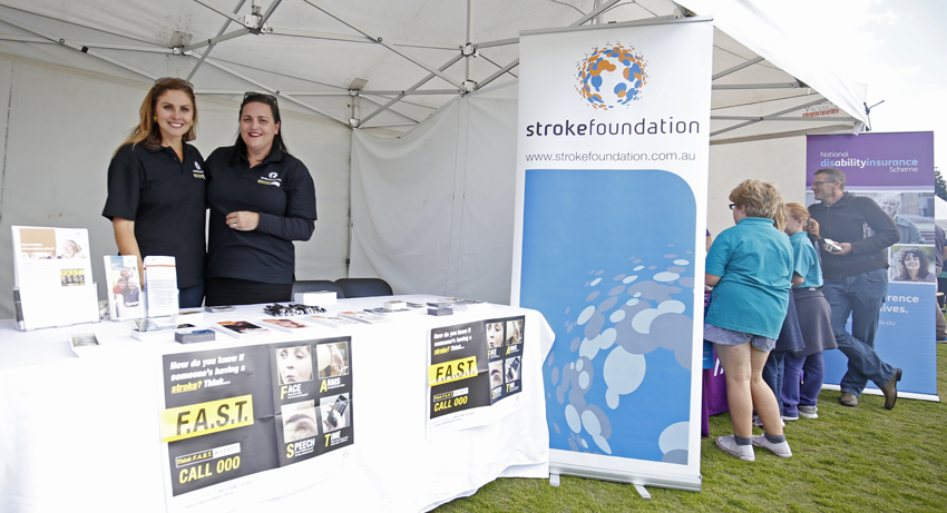 The Stroke Foundation provided information to people in Geelong.