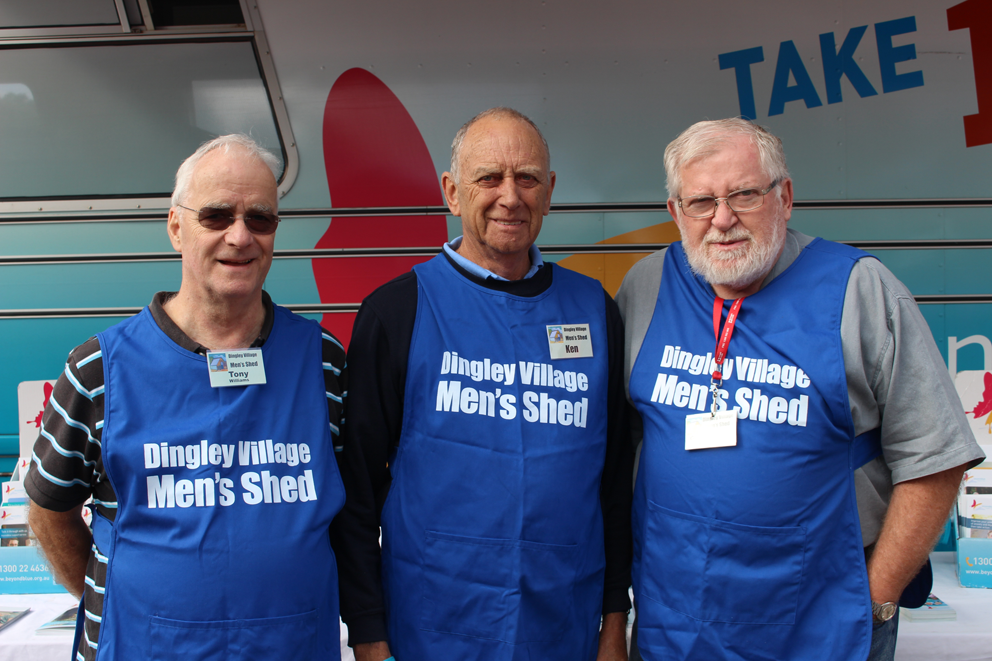 Visiting members of the Dingley Village Men's Shed.