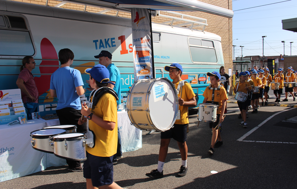 Drummers on the beat at Ormond Community Festival.