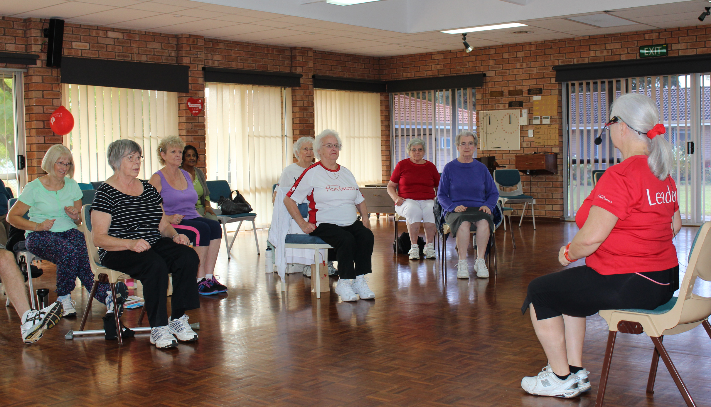 Getting moving at the Heart Foundation's Heartmoves session in Gosnells.