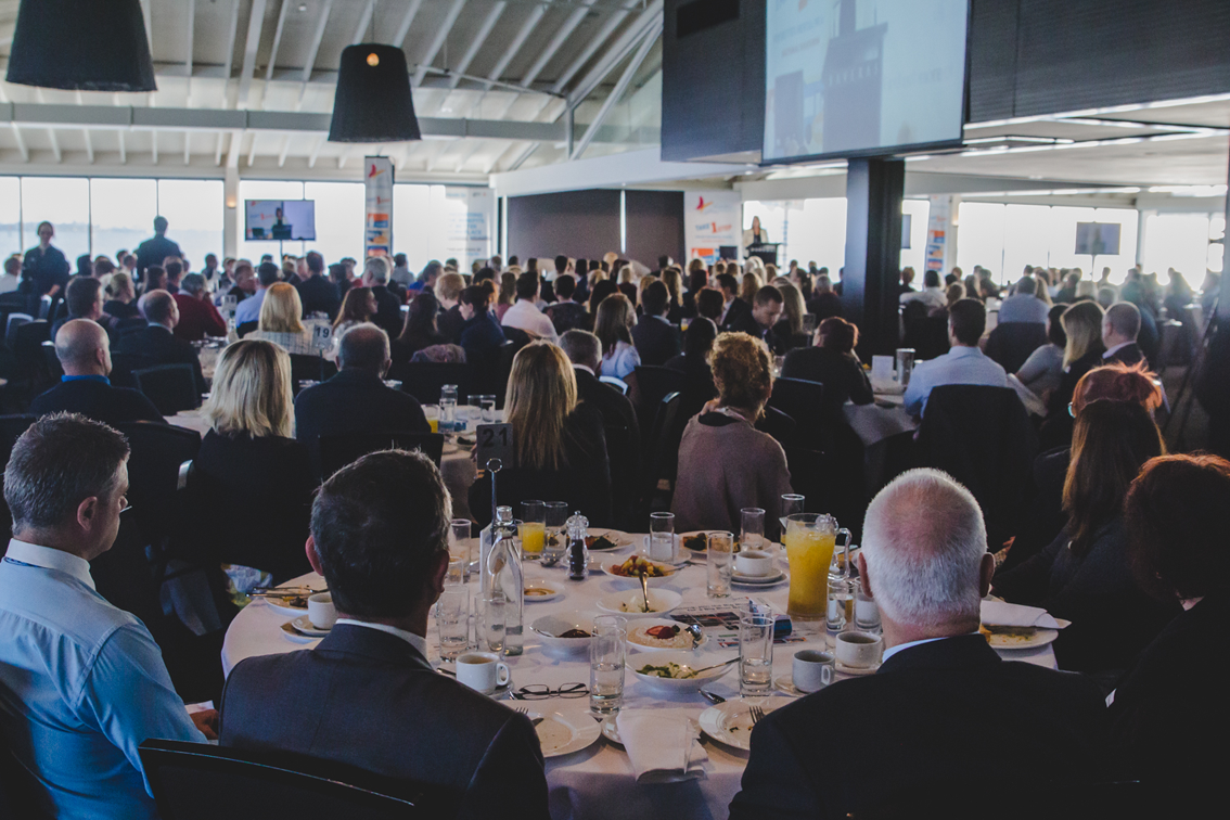 550 local business people turned out in Geelong to hear about the Heads Up initiative: VIC.