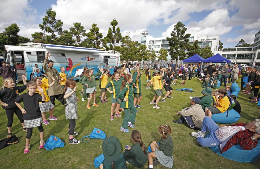 Bollywood dancing at the Big Blue Bash in Geelong: VIC.