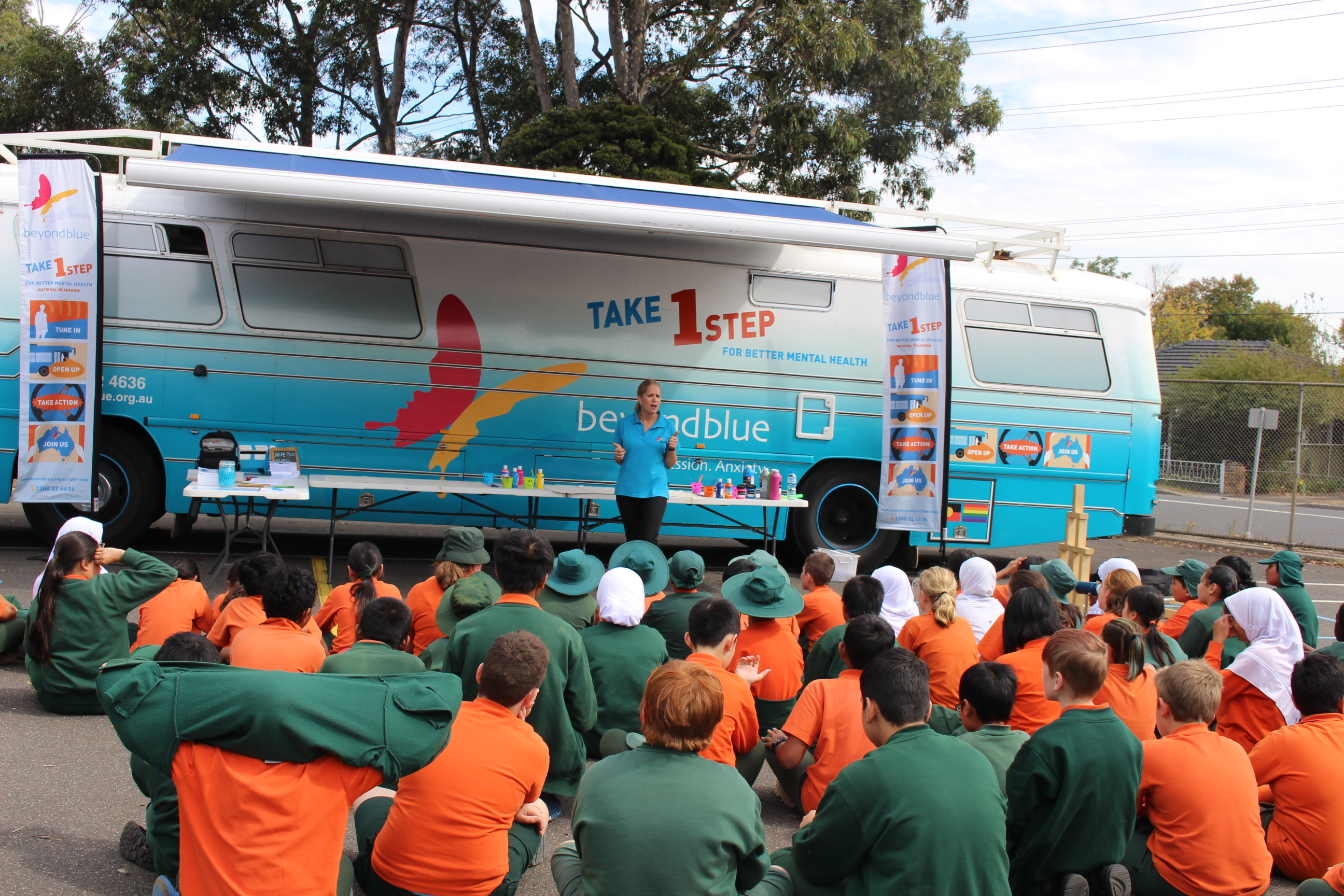 Talking to students at Clayton North Primary School about good mental health: VIC.