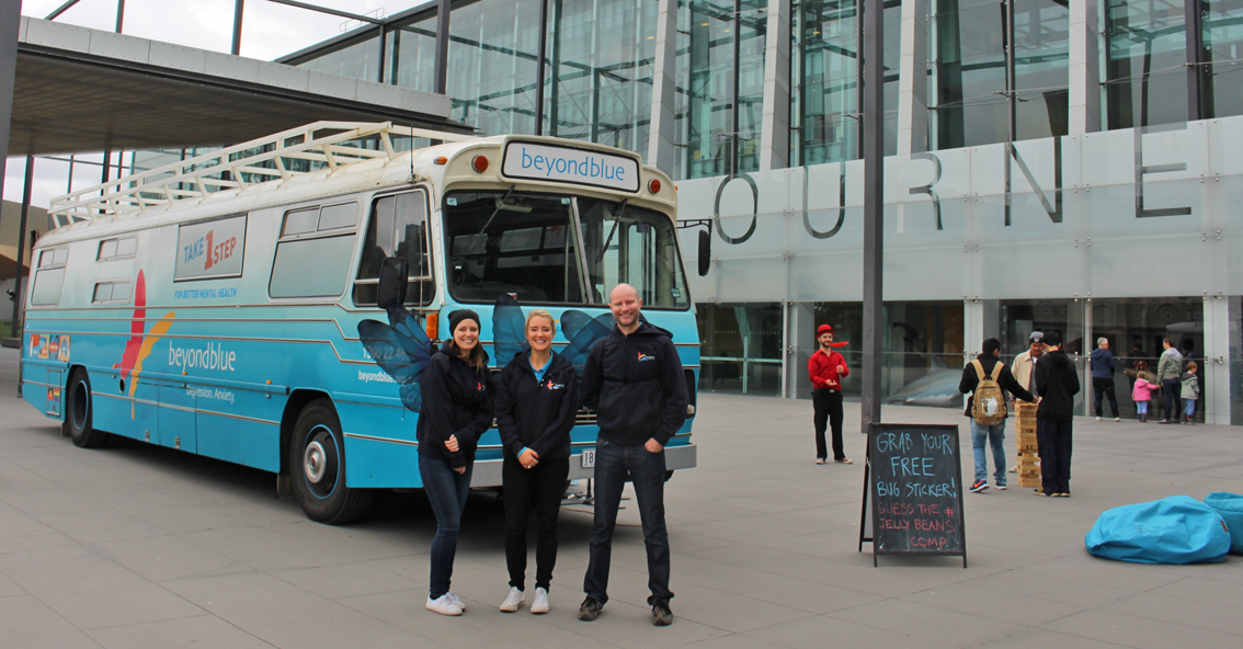 The Beyond Blue team at Melbourne Museum: VIC.