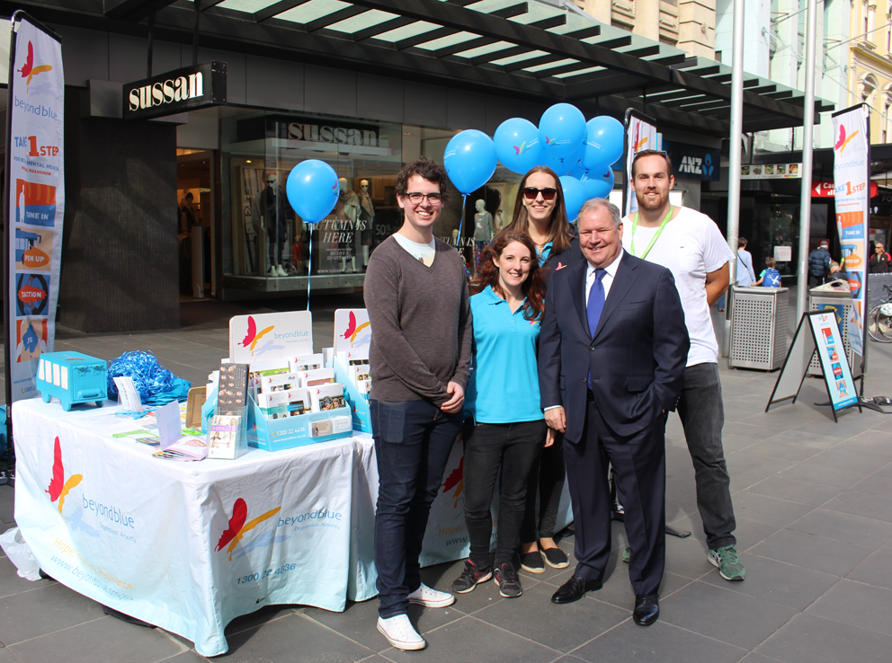 The team were greeted by Lord Mayor Robert Doyle in Melbourne's Bourke Street Mall: VIC.