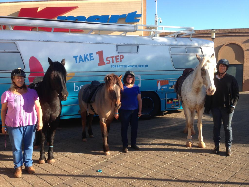 The 'Reinless to Rawlinna' ladies dropped by to say hello in Kalgoorlie: WA.