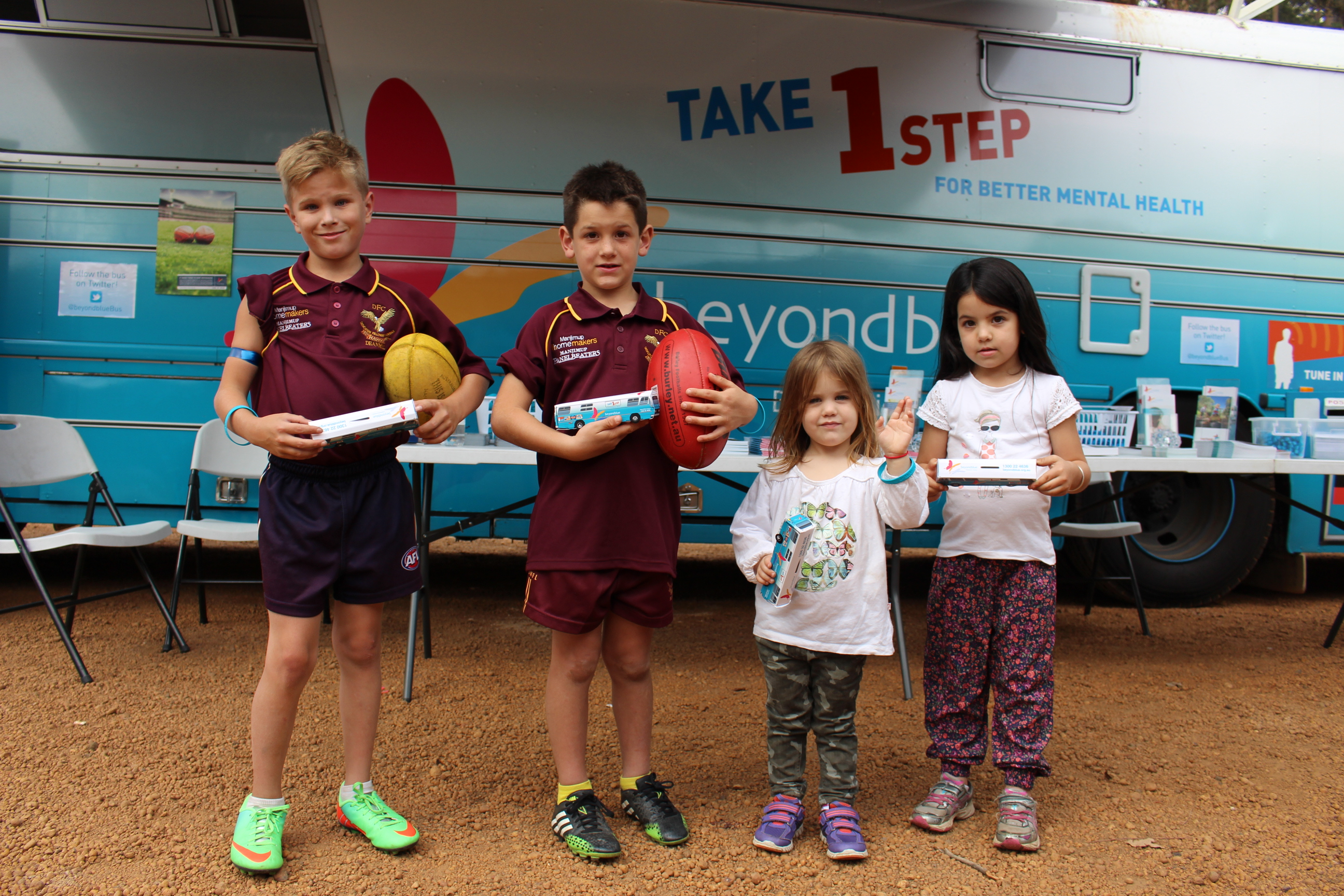 Mini 'Roadshow Rhondas' were well received by the youngsters in Manjimup: WA.