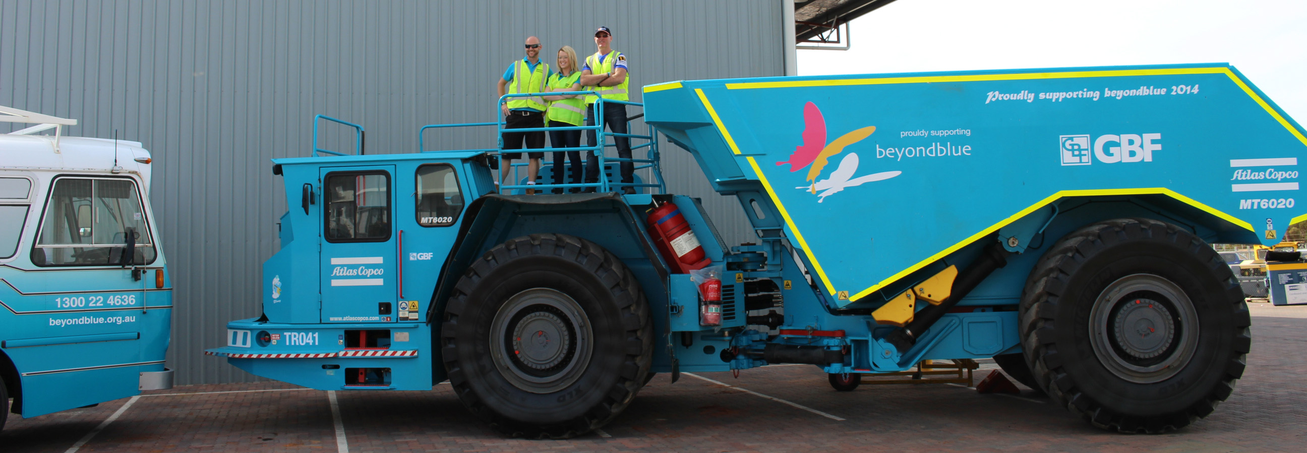 Roadshow Rhonda met GBF Underground Mining's Papa Smurf in Kalgoorlie: WA.