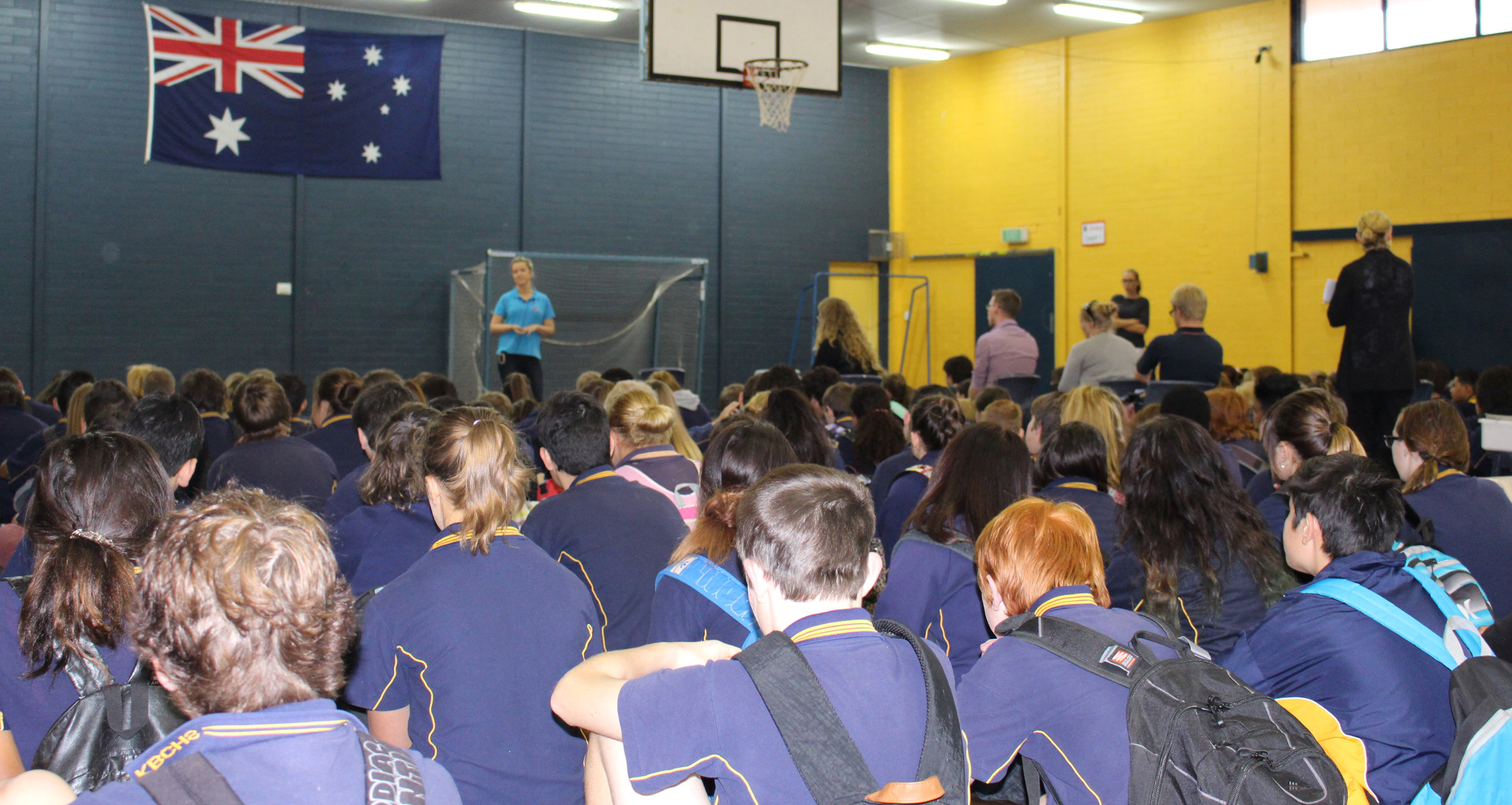 Beyond Blue's Bron presents to students at Kalgoorlie-Boulder Community High School in Kalgoorlie: WA.