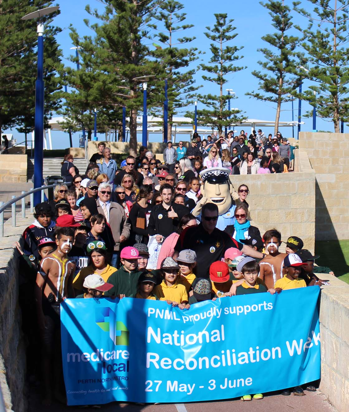Walking for reconciliation in Scarborough during National Reconciliation Week: WA.