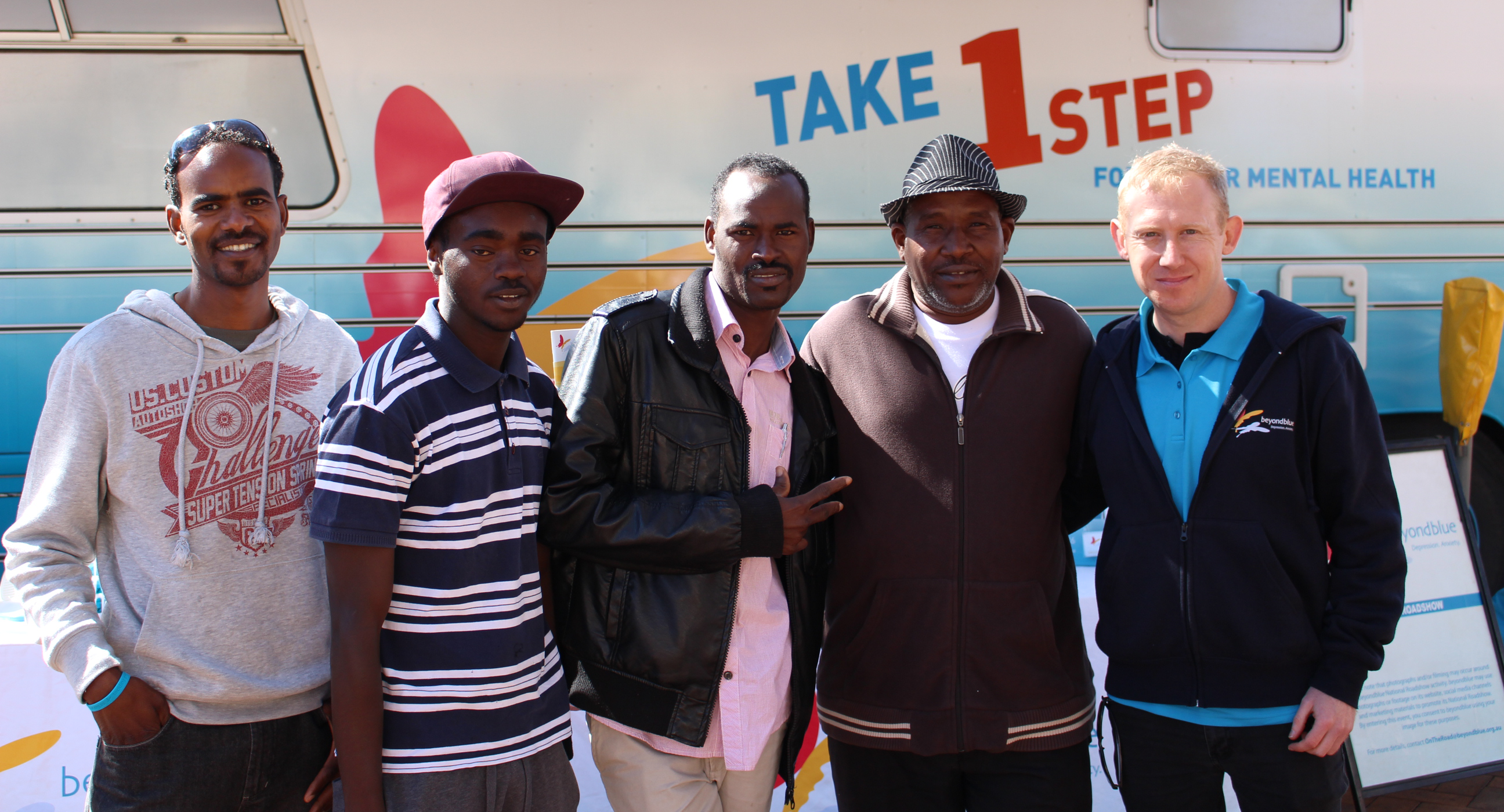 Members of a migrant support group visited the bus in Toowoomba: QLD.
