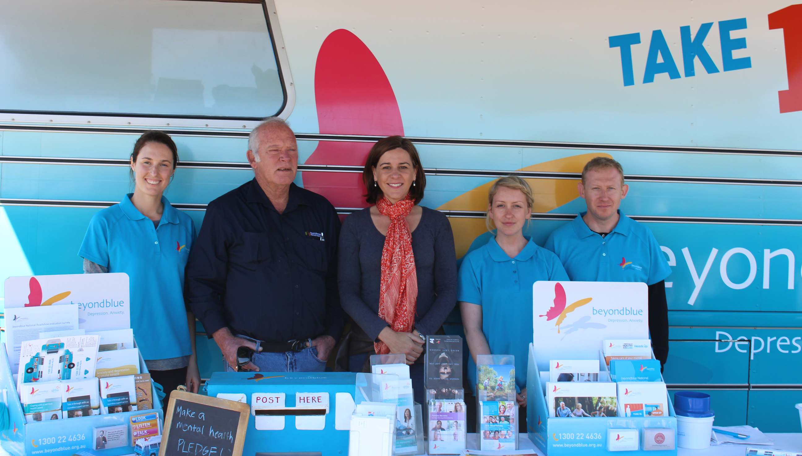 With State Member for Nanango Deb Frecklington at the Nanango Markets: QLD.