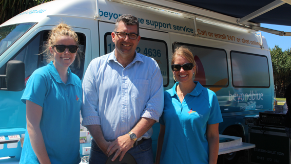 Federal Member for Hinkler Keith Pitt MP dropped by events in both Bundaberg and Harvey Bay: QLD.