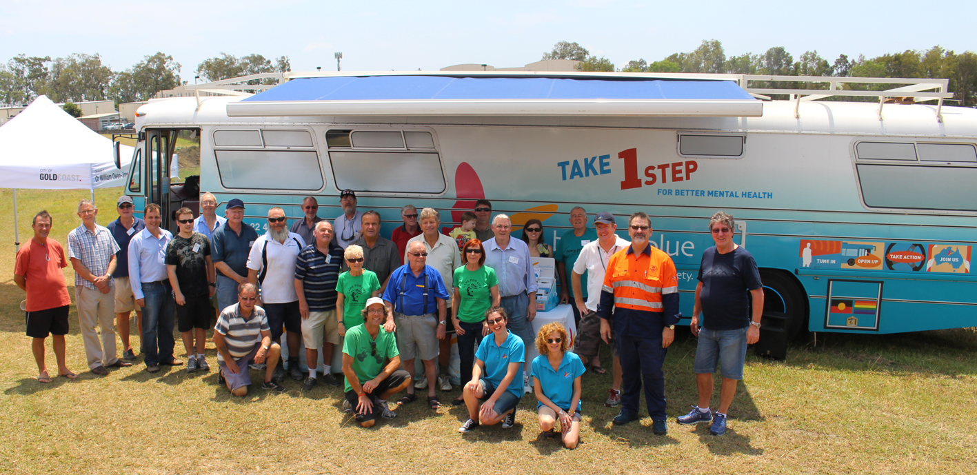 Beyond Blue supporters at Oxenford Men's Shed: QLD.