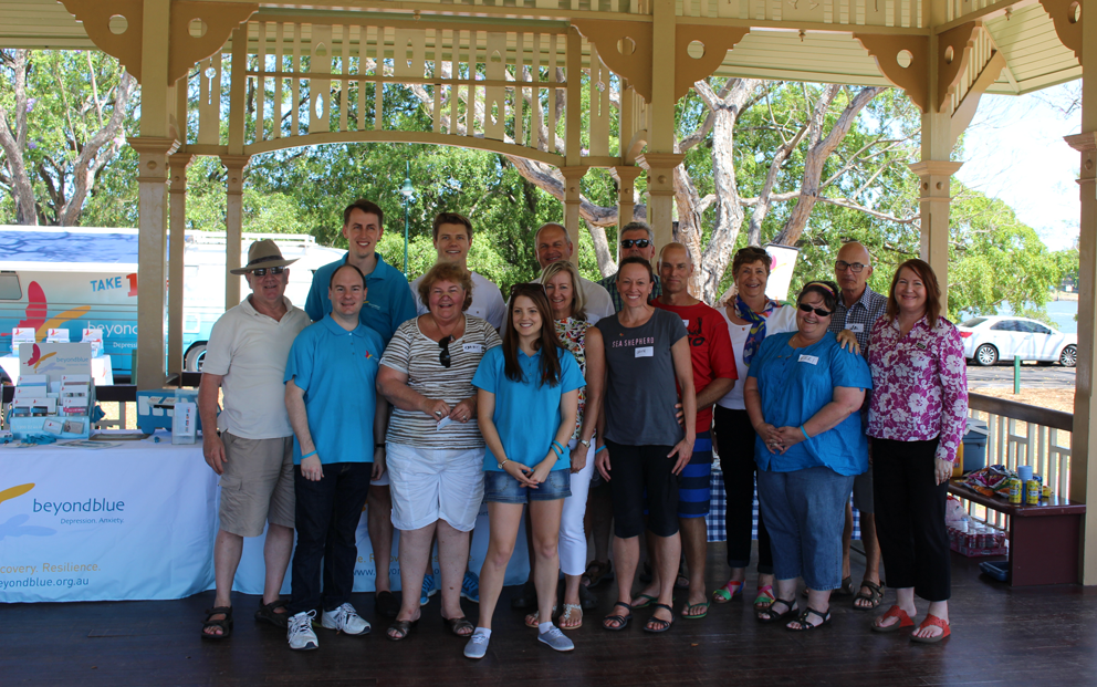 Meeting with members of Beyond Blue's blueVoices group in Brisbane: QLD.