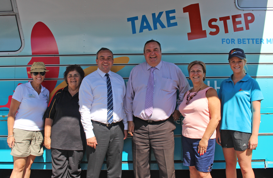 NSW Mental Health Minister Jai Rowell and Member for Gosford Chris Holstein supported our visit to the Mingaletta Aboriginal & Torres Strait Islanders Corp in Umina: NSW.