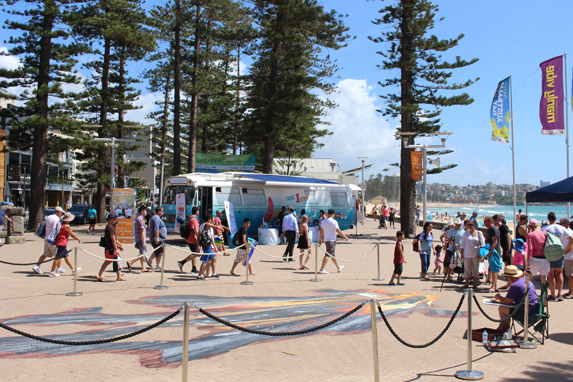 A beautiful day in a beautiful spot at Sydney's Manly Beach: NSW.