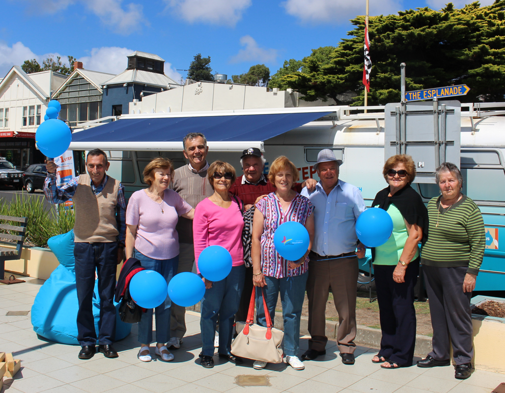 Great chatting with people at Cowes, Phillip Island: VIC.