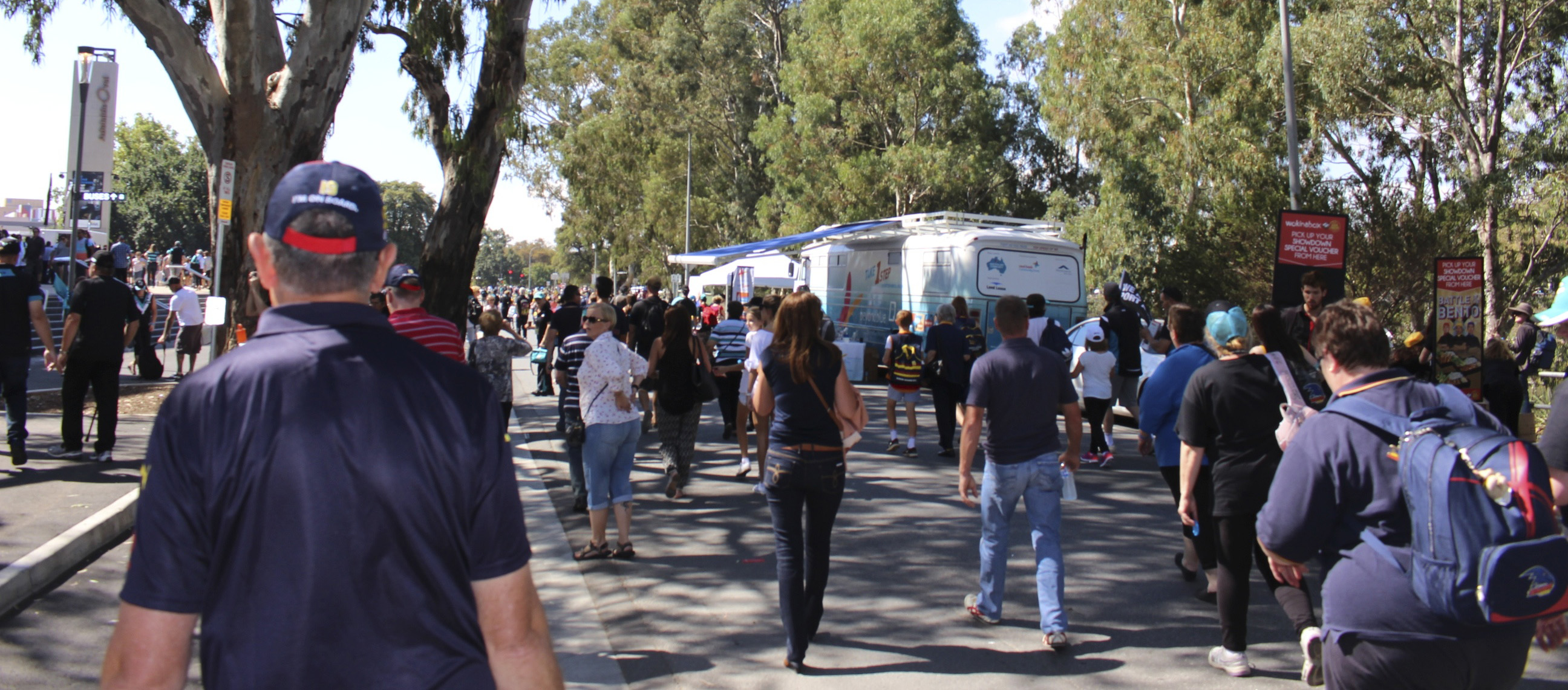 More than 40,000 people attended the Port Power vs Adelaide Crows showdown.