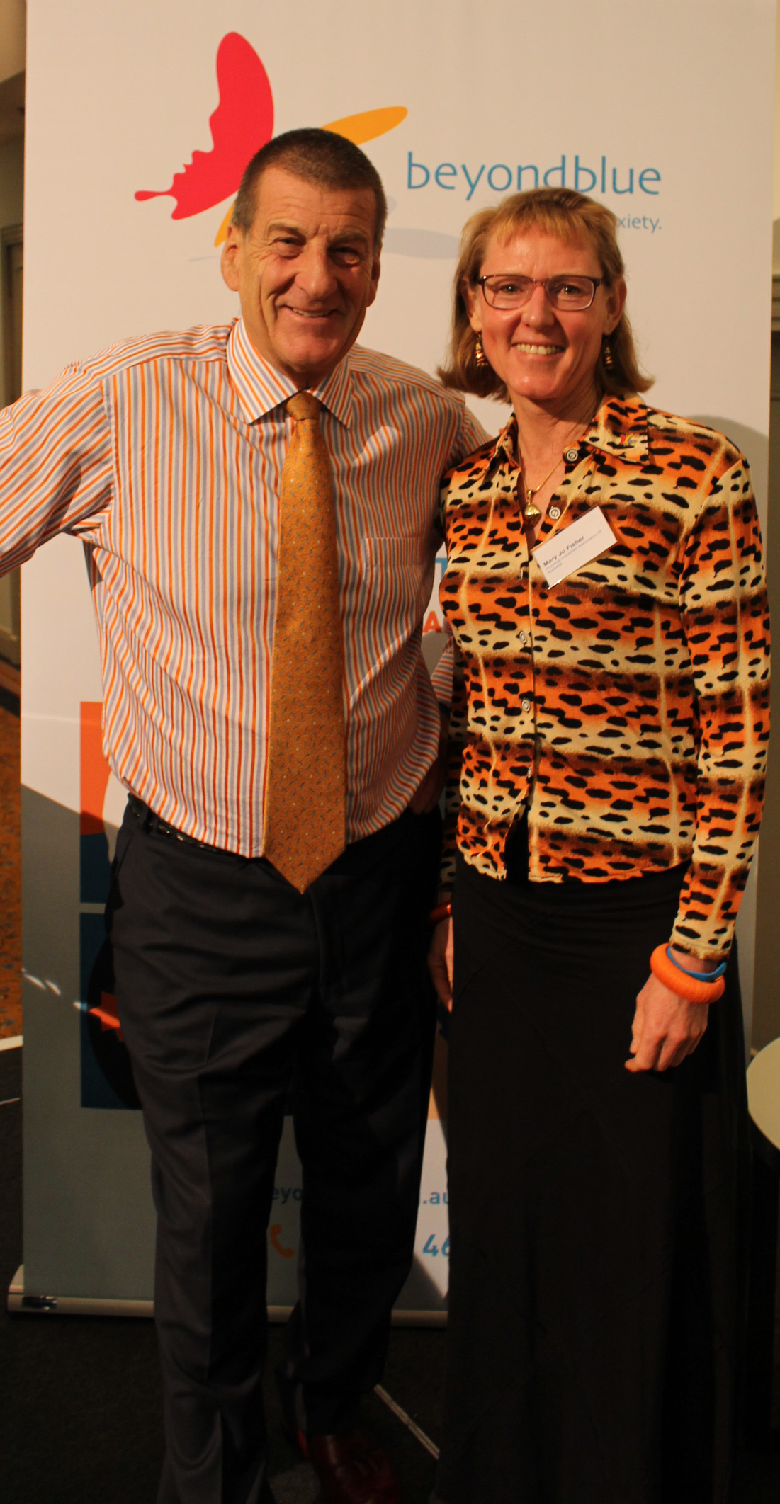 Beyond Blue Chairman The Hon Jeff Kennett AC with Beyond Blue Ambassador Mary Jo Fisher.