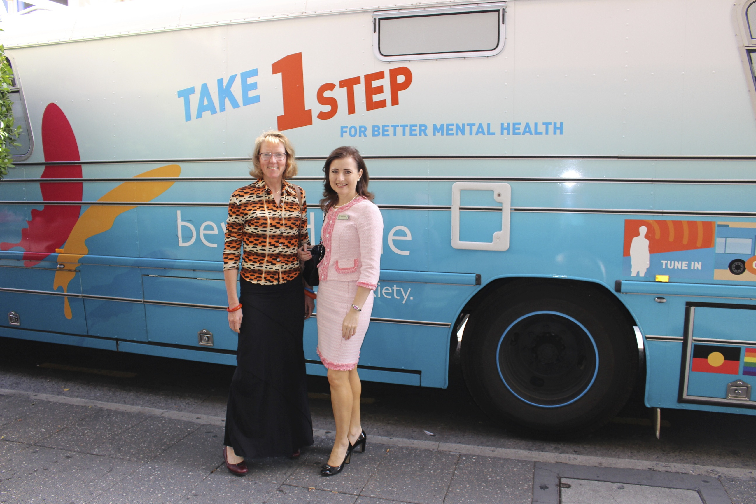 Beyond Blue Ambassador Mary Jo Fisher and Adelaide MP Rachel Sanderson attended the launch of NewAccess.