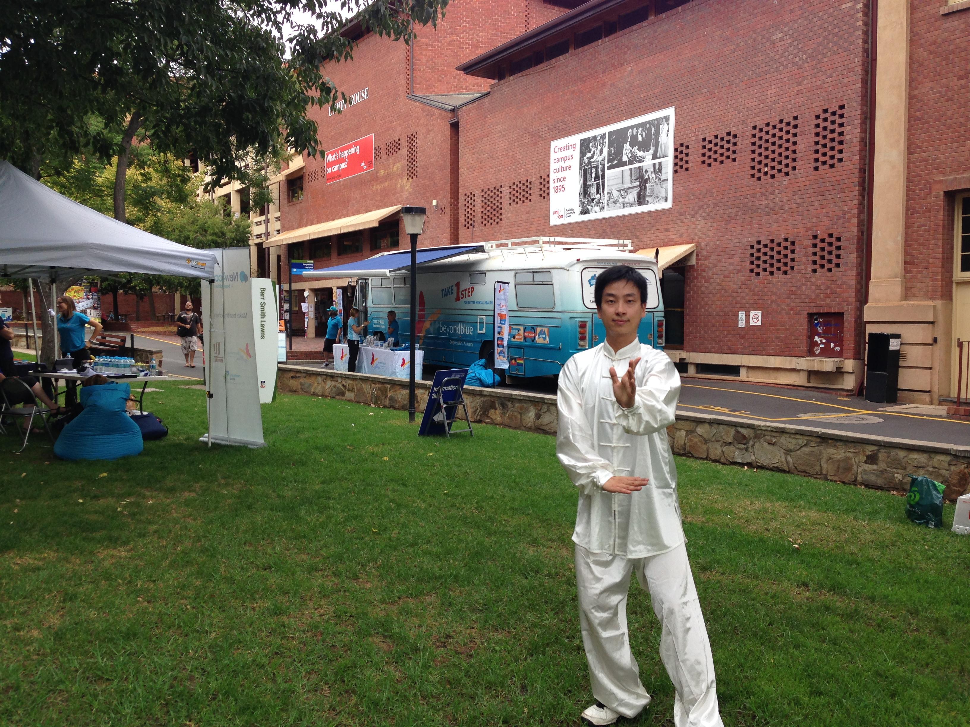 Tai Chi master at the University of Adelaide.