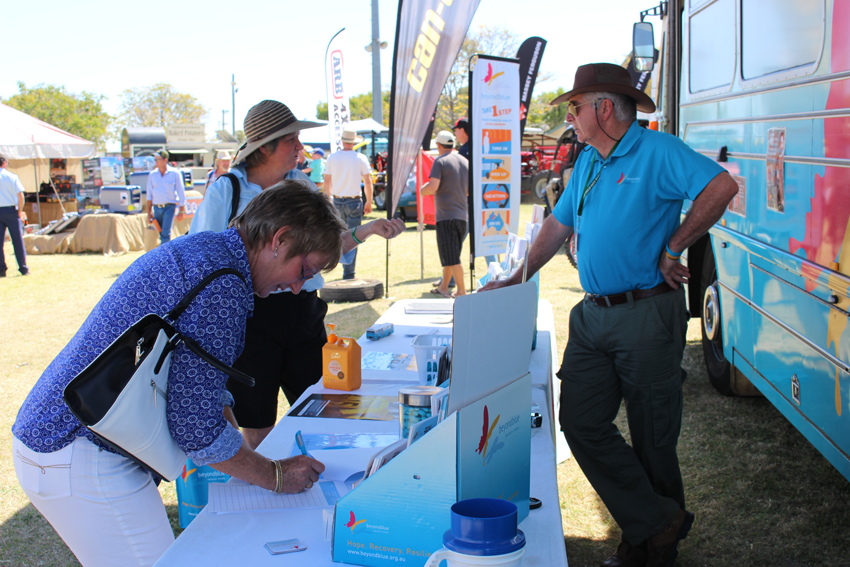 Pledges and conversations at Westech Field Days.