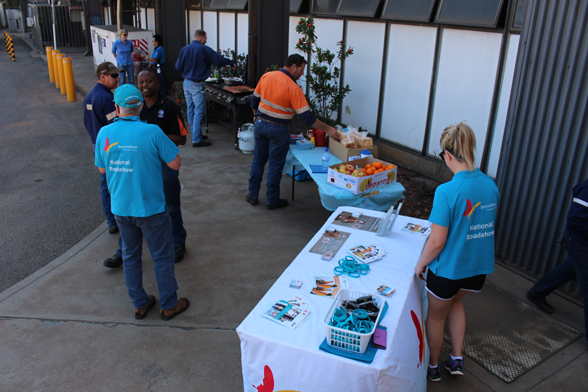 All set to greet Mt Isa Mines workers.