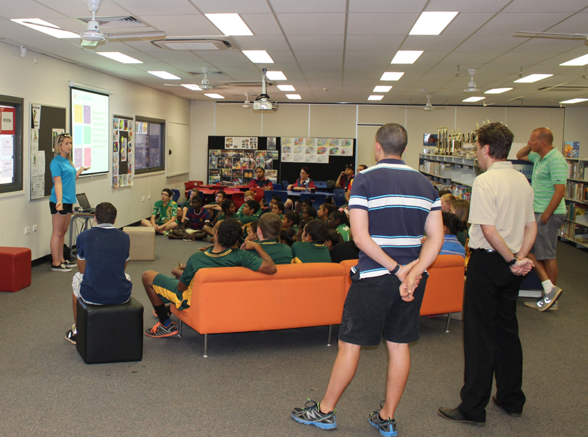 Class presentation at Normanton State School.