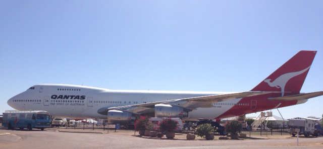 The bus dropped past the Qantas Founders Museum in Longreach on its way to Mt Isa.