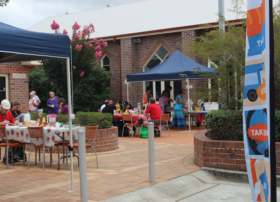 Free community barbecue at Mary Mac's Place in Woy Woy.