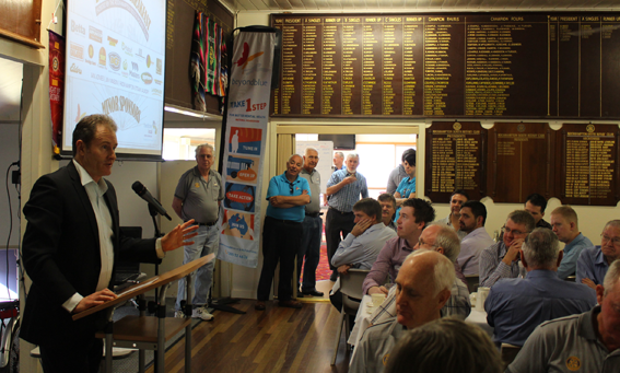 Craig Hamilton shares his story at the Rockhampton South Rotary Club breakfast.
