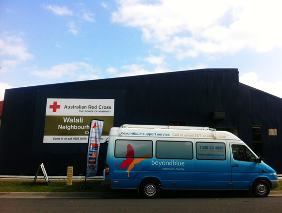 At Walali Neighbourhood Centre in Rockhampton for the Red Cross morning tea.