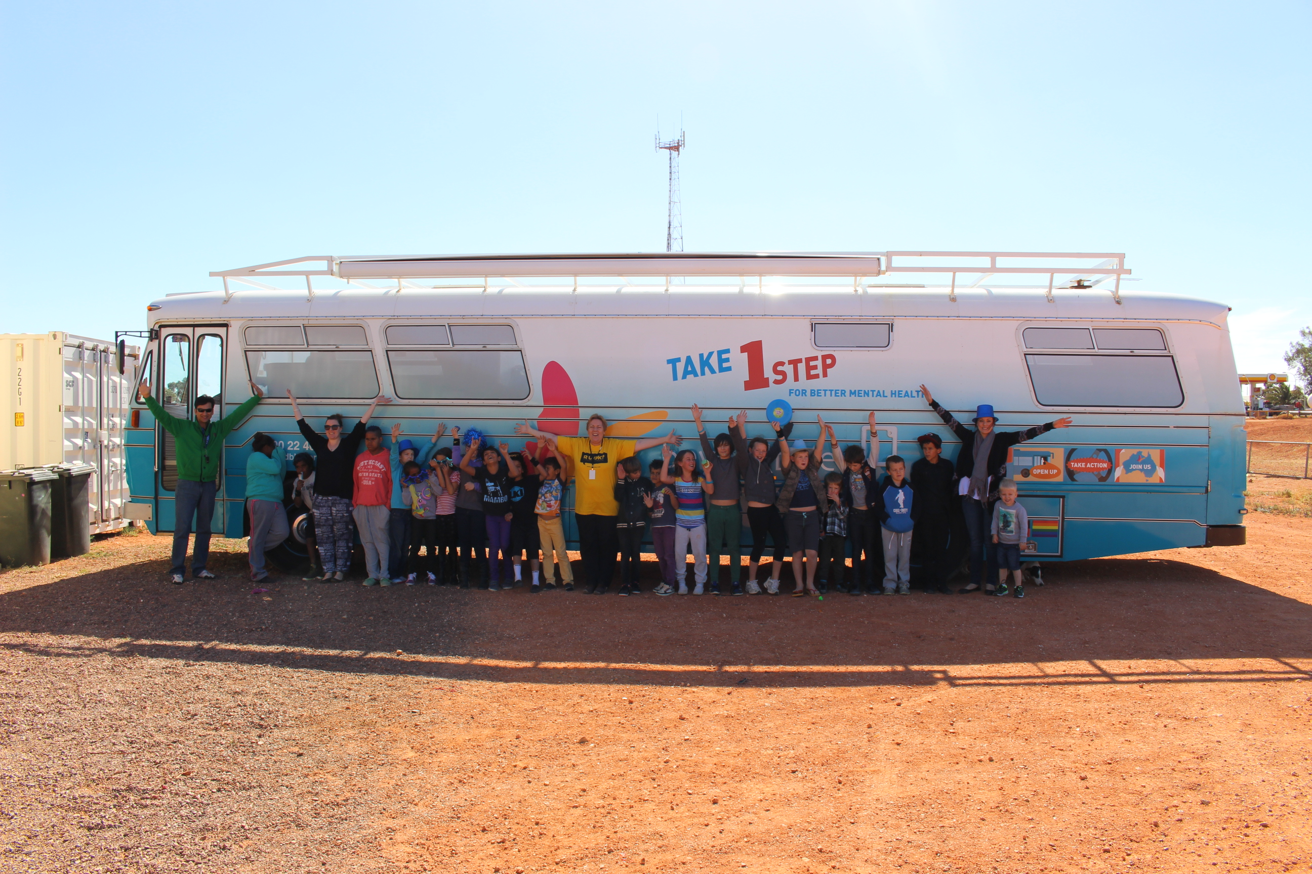 Visiting the Coober Pedy Youth Shed in July.