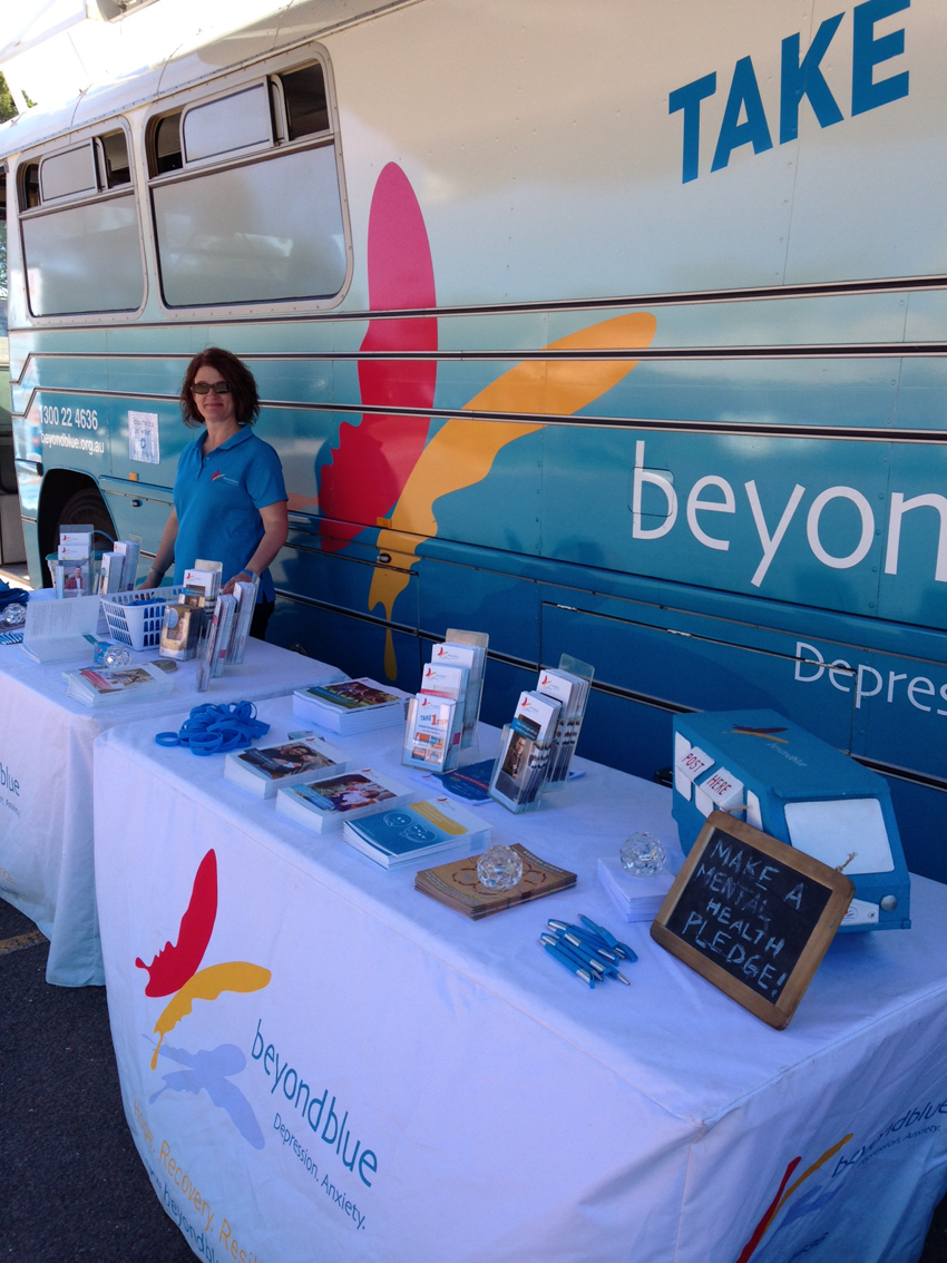 All set up outside Whyalla Hospital.