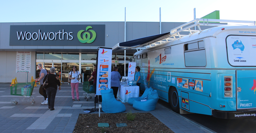 Chatting to shoppers at Westland Shopping Centre in Whyalla.