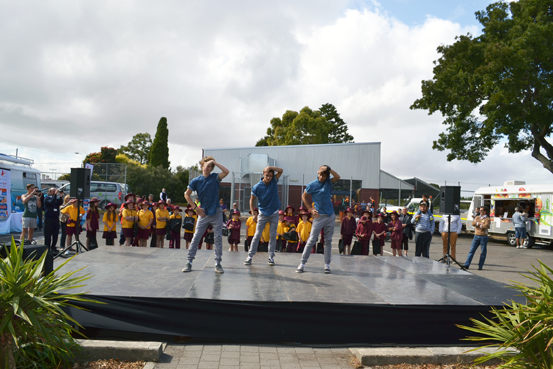 Hip hop lesson at Pangula Mannamurna's Close the Gap Health and Wellness Expo in Mount Gambier.