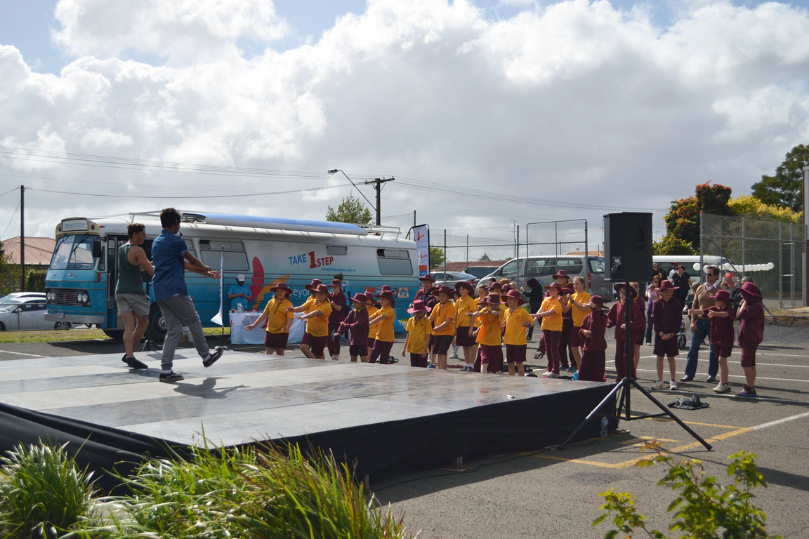 Hip hop dance lesson at Pangula Mannamurna's Close the Gap Health and Wellness Expo in Mount Gambier.