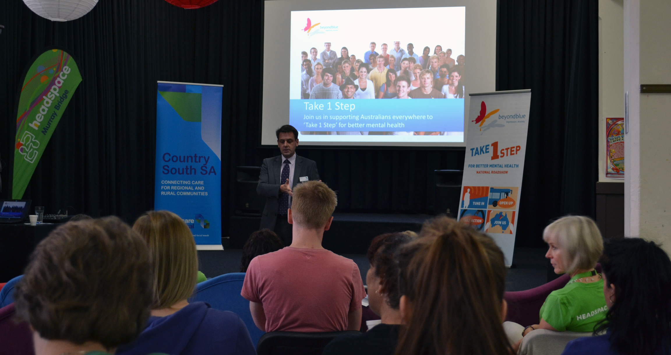 Health professionals in Murray Bridge learning more about Beyond Blue.