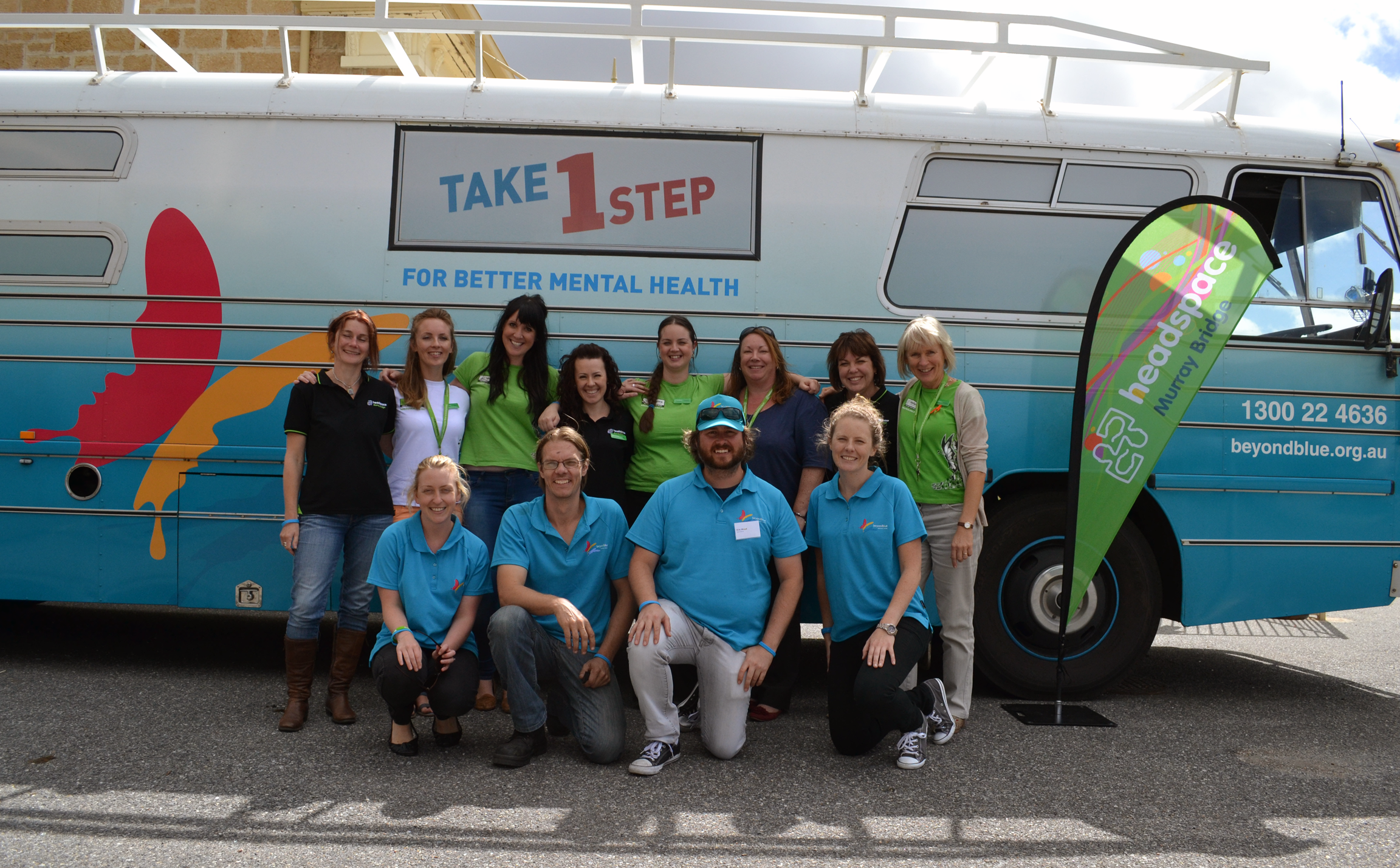 The Roadshow team with staff from headspace Murray Bridge.