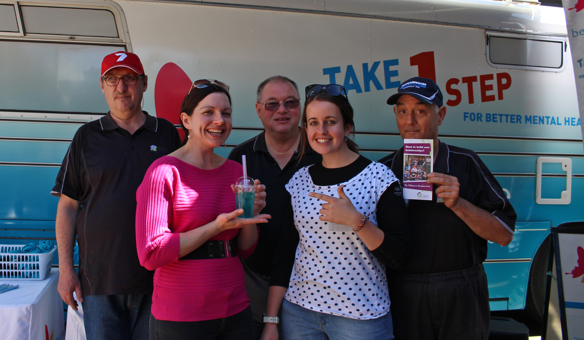 Toowoomba Clubhouse members supported the community barbecue at Bell Street Mall.