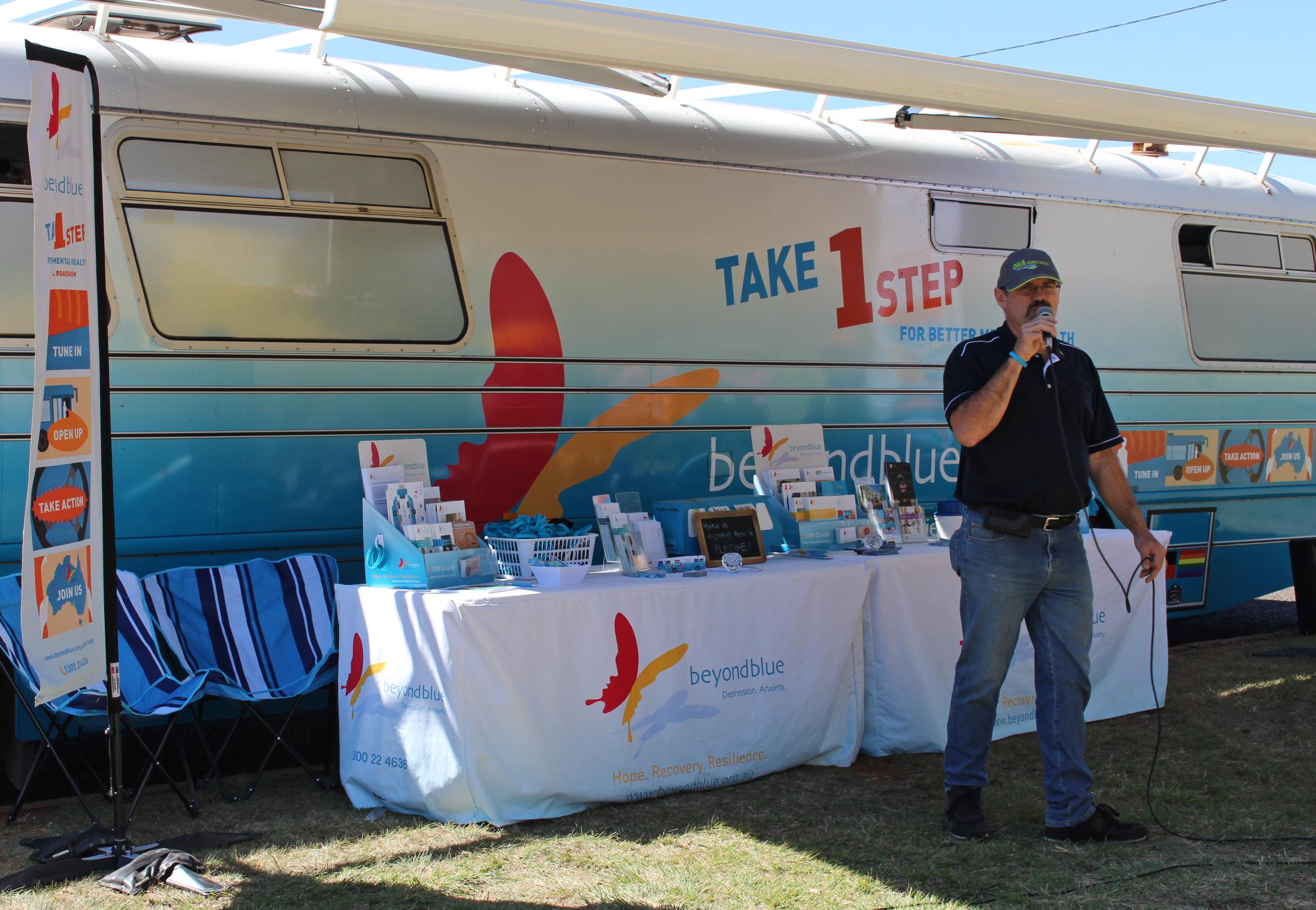 Beyond Blue speaker Eddie Sloan shares his story in Kingaroy.