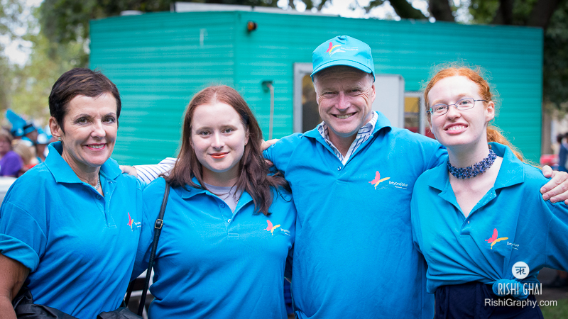 CEO Kate Carnell and Beyond Blue volunteers - including her husband Ray.